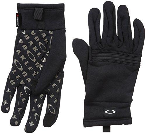 Oakley Diamondback Fleece Gloves, Jet Black, Medium