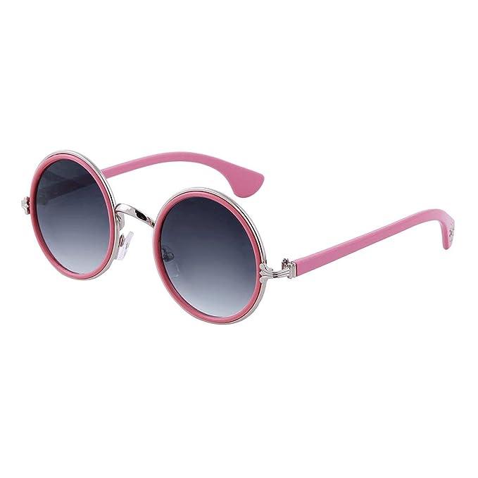 0d6901c1f4 Damara Elegante Gafas De Sol Con Cristales Redondos Para Niñas, Rosa  Monturas/Azul cristales: Amazon.es: Ropa y accesorios