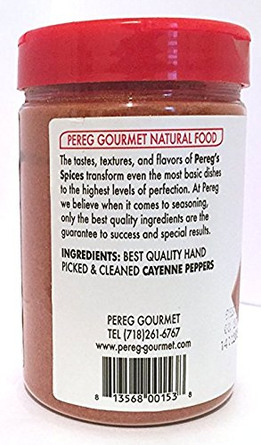 Pereg Ground Cayenne Hot Pepper Kosher For Passover 4.2 Oz. Pack of 1.