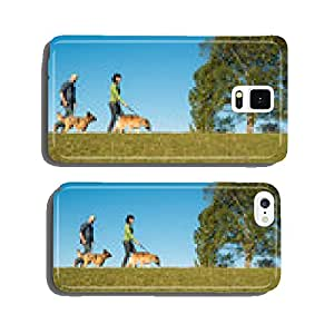 Couple walks with his dogs cell phone cover case iPhone6 Plus