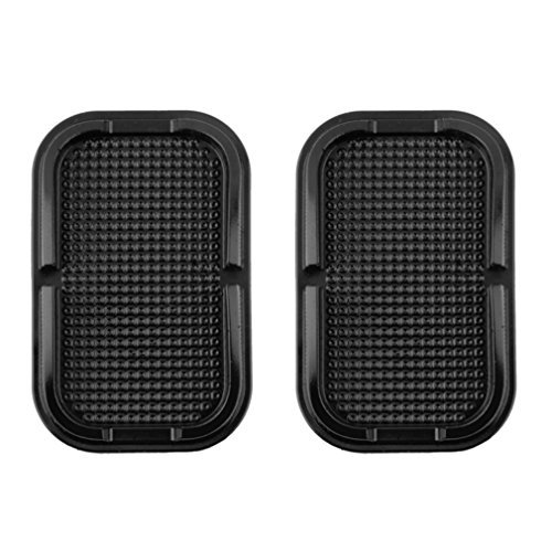 2 x Lilware Antislip Flatbed Mat for Car Dashboard or Any Other Surface. Miscellaneous Equipment Holder - Phones, Keys, and Other Small Items. ()