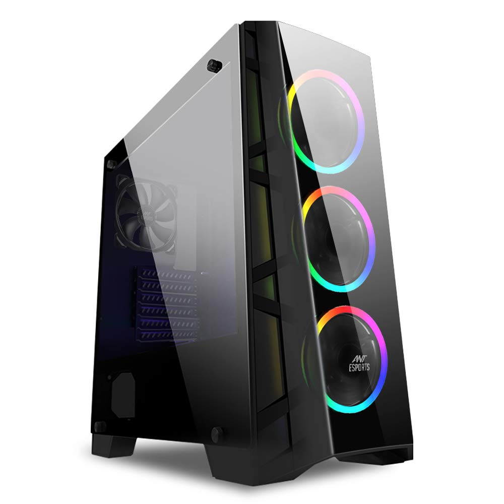 Ant Esports ICE-300TG Mid Tower Gaming Cabinet Supports ATX,
