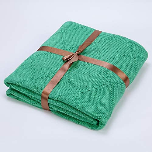 EMEZ - Manta de algodón Verano (160 cm), Color Verde: Amazon.es: Hogar
