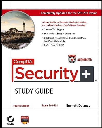 Amazon com: CompTIA Security+Study Guide: Exam SY0-201