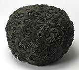 Modern Pouf in Black 797043