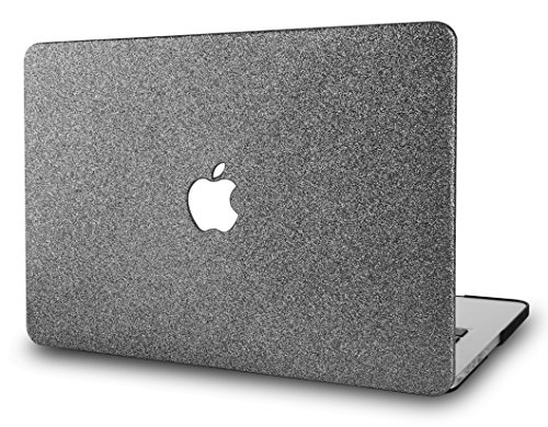"KEC MacBook Pro 13"" Retina Case (2015 Old gen.) Plastic Hard Shell Cover A1502 / A1425 (Grey Sparkling)"