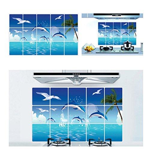 Dolphin Mural (Wall Sticker,Saingace Home Decor Dolphins Animal Removable Art Mural Decor)