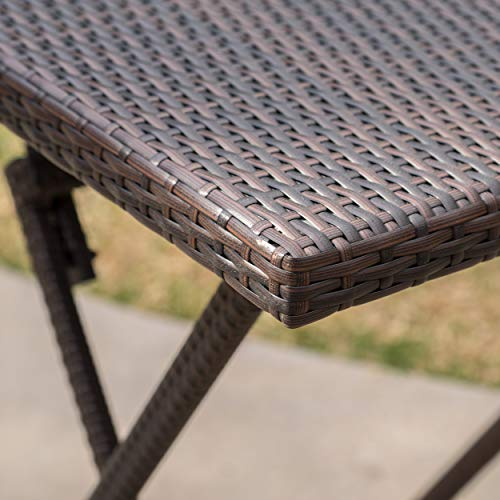 Marinelli Outdoor Multibrown Wicker Bar Table by Christopher Knight Home (Image #4)