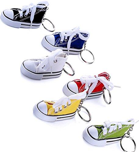 6pcs 6colors Mini Canvas Sneaker Tennis Shoe Sneaker Keyc...