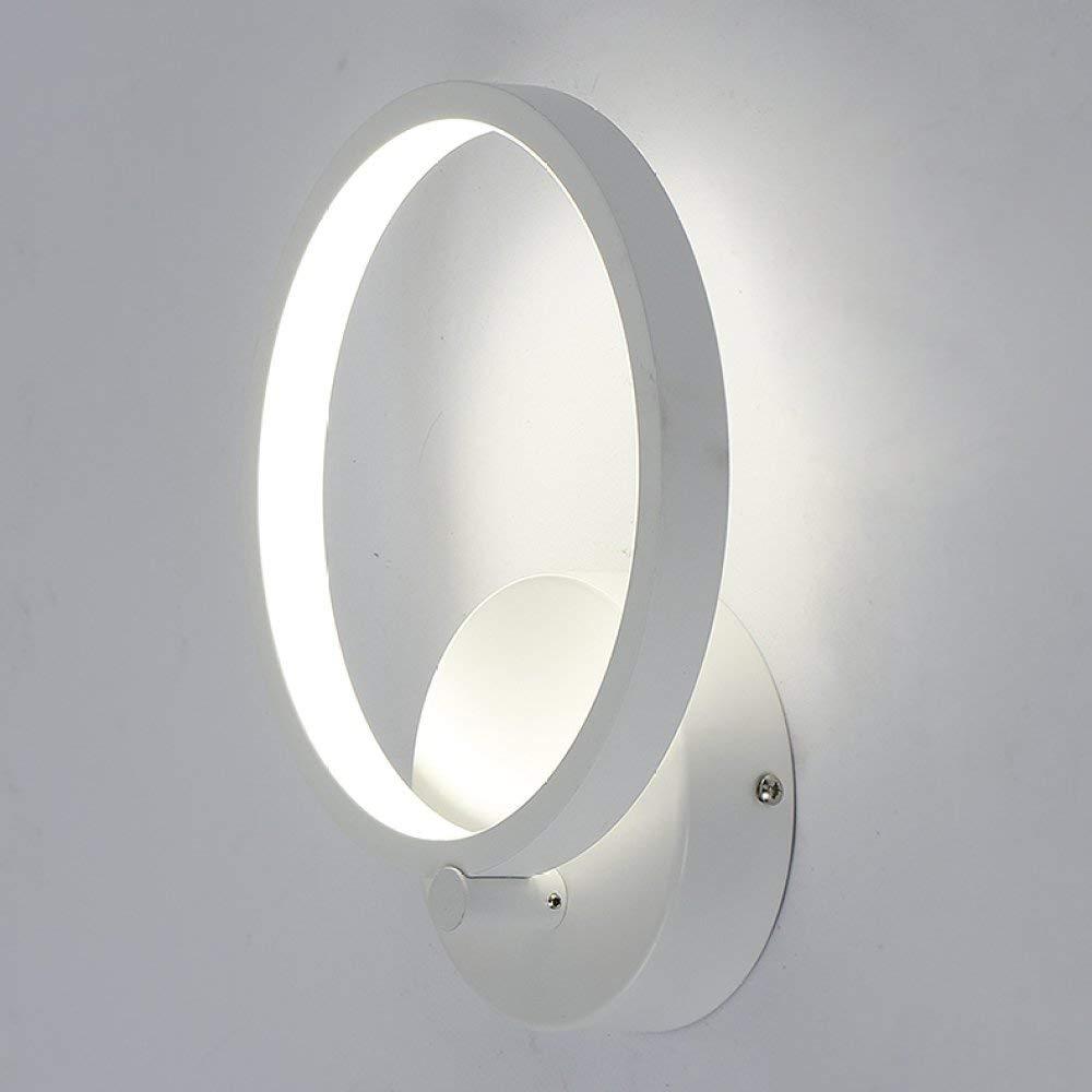 Chuiqingwang Ledウォールライトモダンベッドサイドベッドルームリビングルームデンオフィス廊下屋根裏装飾照明壁円形クリエイティブ壁天井暖かい白12ワット B07SDM5JSV