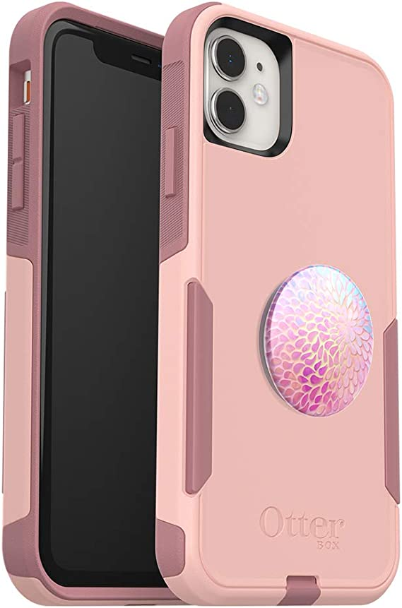 Blossom Flair + PopSockets PopGrip - Bundle: OtterBox Commuter Series Case for iPhone 11 Pro - Cupids Way
