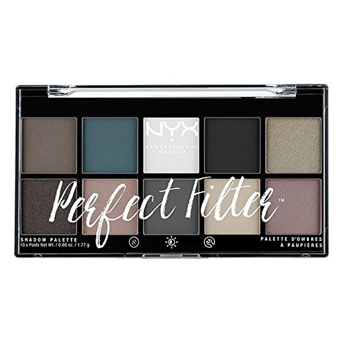 NYX PROFESSIONAL MAKEUP Perfect Filter Shadow Palette, Gloom