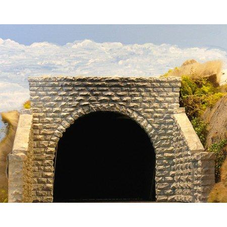 Scale Double Tunnel (Chooch Enterprises HO Scale Double Cut Stone Tunnel)