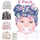 Gellwhu 5PCS Pack Newborn Baby Flower Bowknot Hospital Hat