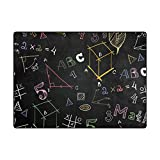 Vantaso Soft Foam Area Rugs Chalkboard School Math Formulas Non Slip Play Mats 63x48 inch for Kids Playing Living Room