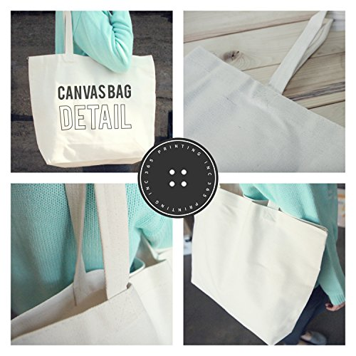 Mama Typewriter Canvas Bag Tote Diaper Book Grocery Bag For Mom Mother's Day by 365 In Love (Image #2)