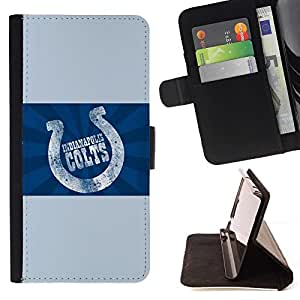 For Sony Xperia Z3 D6603 Indianapolis Colt Beautiful Print Wallet Leather Case Cover With Credit Card Slots And Stand Function