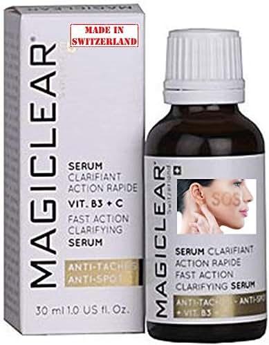 Luxury Dark spot remover corrector for Face and Body Serum - Brightening Anti spot Acne scar - Antiaging - Bleaching Lightening whitening Vitamin C - Best Swiss brand Magiclear 30 ml 100% result