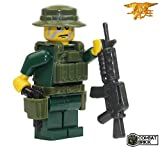 US Navy Seal in Woodland Camo - Custom Army Builder Military Minifigure