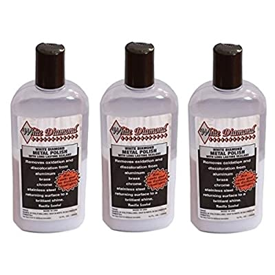 White Diamond Metal Polish 12 OZ.(355ml) 3pack: Automotive