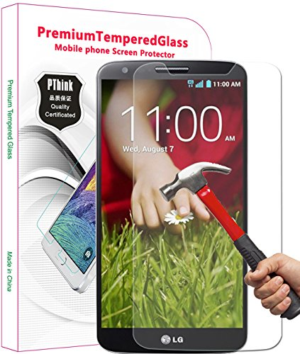 PThink® 0.3mm Ultra-thin Tempered Glass Screen Protector for LG G2 with 9H Hardness/Perfect Anti-scratch/Fingerprint & water & oil resistant (LG G2) (Tempered Glass Lg G2 compare prices)