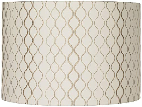 Embroidered Hourglass Lamp Shade 16x16x11 (Spider) - Springcrest (Tie Dye Lamp Shade)