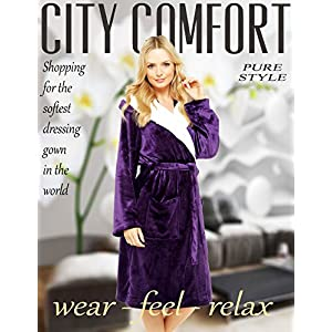 CityComfort Ladies Dressing Gown Soft Plush Bath Robe for Women Housecoat Loungewear Bathrobe