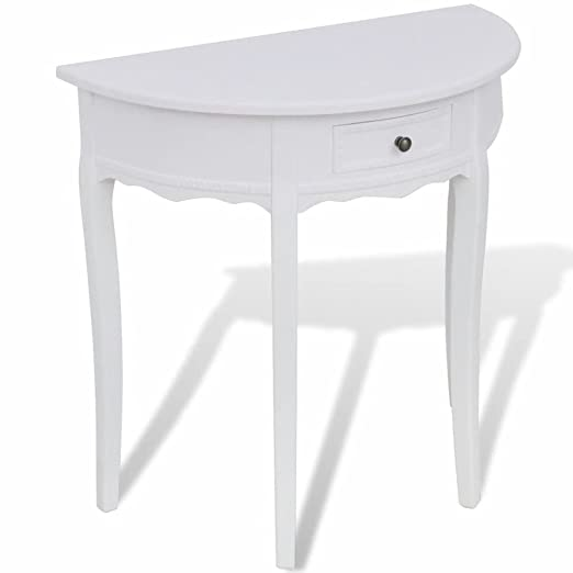 Furnituredeals mesas auxiliares de madera Mesa consola ...
