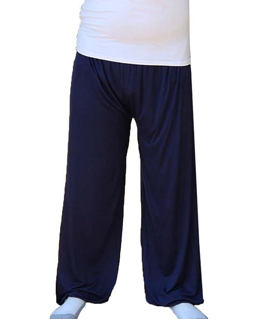 GladiolusA Pantalones De Pijama Largos para Hombre Pantalones De Yoga Suave Comodo Pantalones De Descanso Talla Grande