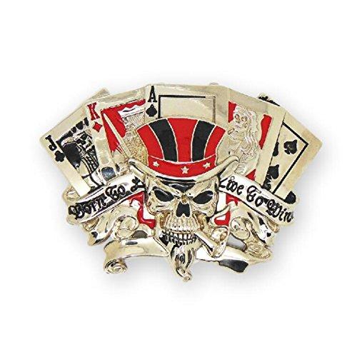 ull Casino Poker King Ace Crown Belt Buckle ()