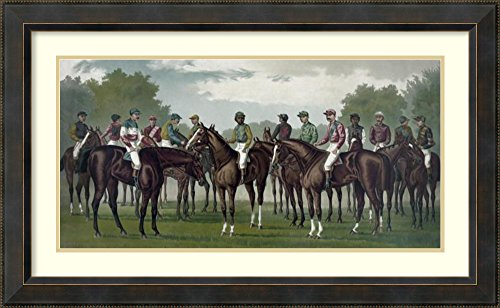 lebrated winning horses and jockeys of the American turf' by Currier & Ives (Currier & Ives Framed)