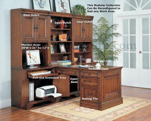 Amazon com  Warm Cherry Executive Modular Home Office Furniture Set   Kitchen   Dining. Amazon com  Warm Cherry Executive Modular Home Office Furniture