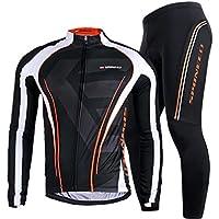 sponeed playera de manga bicicleta Jersey Full para poliéster Lycra bicicleta Pantalones de compresión