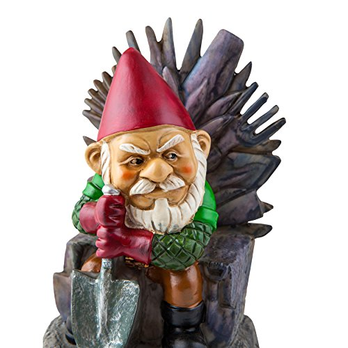 Bigmouth inc game of gnomes garden gnome statue hand for Game of thrones garden ornaments