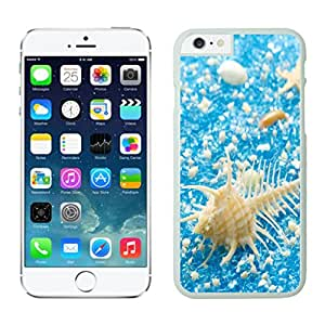 Slim Apple Iphone 6 Plus 5.5 Inches Case White Phone Cover Conch Shell