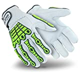 HexArmor Chrome Series 4080 Cut Resistant Leather Work Gloves with Impact Protection
