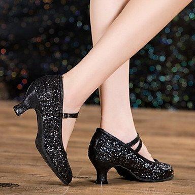 Não Couro Uk3 De Cn 5 Dançando Outdoor Us5 5 Xiamuo Champanhe Saltos Couro Moderna Eu36 Patentes De Mulheres 35 Personalizável Cubana Sapatos Heelprofessional A01Hdx