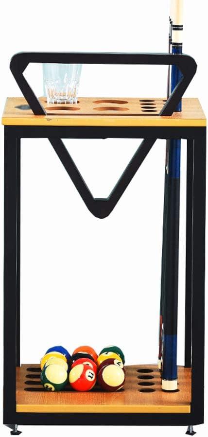 XGGYO Support de Queue de Billard Mural Bois Massif 6 trous Accessoires de Snooker Billards Porte-Queues Peut Contenir 6 Queues 54/×52CM