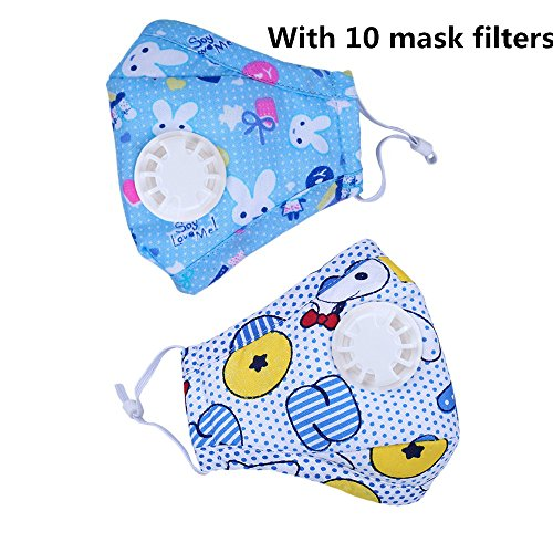 Ligart Kids Anti Pollution Mask with Activated Carbon N95 Filters Dust Mask Filtration Exhaust Gas Anti Pollen Allergy PM2.5 Air Filter Mask for Outdoor Activities ()