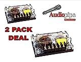 2 pack 2 Way Crossover CRX-203 400 Watts Passive Crossover Car Audio Tweeter