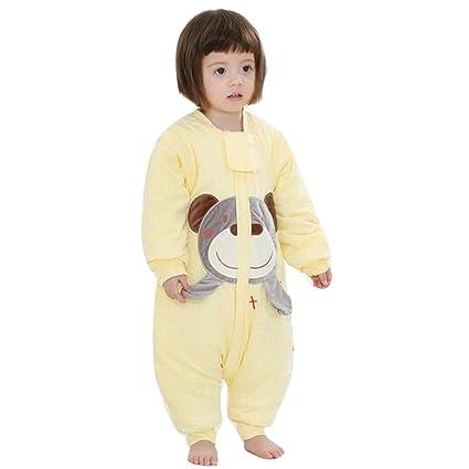Baby schläf Saco invierno con patas Niños schlafanzug baumwollen Niño Niña Manga Larga Pijama/Mono