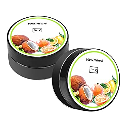 Dr.C Pure ( 2 Cans ) Active Natural Teeth Whitening Charcoal Powder - with Organic Coconut Activated Charcoal - Use Like A Whitening Toothpaste