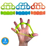 Resistance Bands for Hand & Finger Extensor Training & Exercise by Ability Fitness – For Improving Grip and Wrist Strength, Relieving Pain, Injury Rehabilitation and Stress Relief – Set of 3 Review