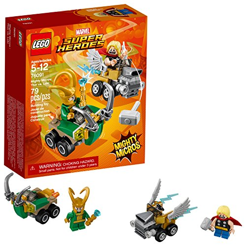 roes Mighty Micros: Thor vs. Loki 76091 Building Kit (79 Piece) ()
