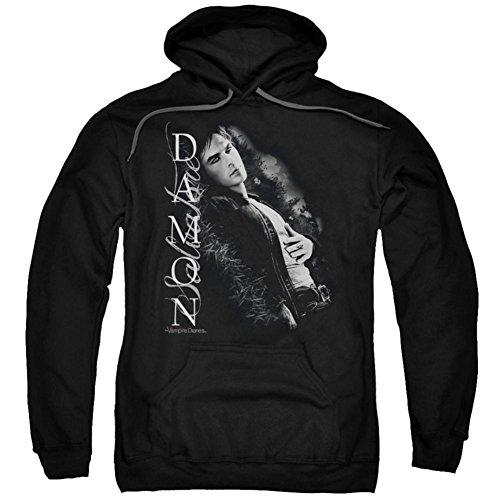 Trevco Vampire Diaries Supernatural Drama TV Show Damon Salvatore Adult PullOver Hoodie