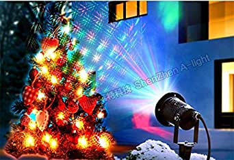 L&T STAR Christmas Projector Lights Outdoor Waterproof Lawn Light Dynamic Remote Control Red And Green Sky Stars Christmas Garden Garden Garden Lights