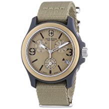 Victorinox Swiss Army Unisex 241533 Original Chronograph Beige Nylon Strap Watch