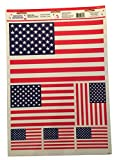 Celebrate It Patriotic Window Clings ~ Stars and Stripes Forever! (6 Clings, 1 Sheet)