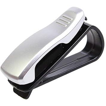 CHOULI Glasses Holders for Car Visors Multicolor Storage Organizer Clip Silver