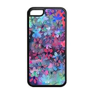 Floral Pattern Design Solid Rubber Customized Cover Case for iPhone 5c 5c-linda109 hjbrhga1544